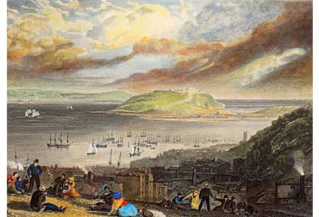 Falmouth Harbor, 1850