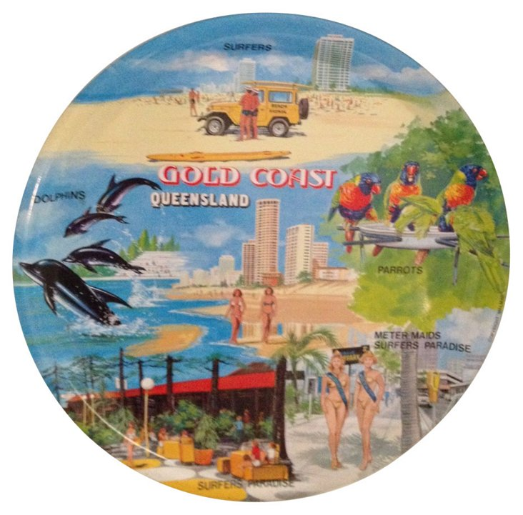 Gold Coast Souvenir Tin Tray