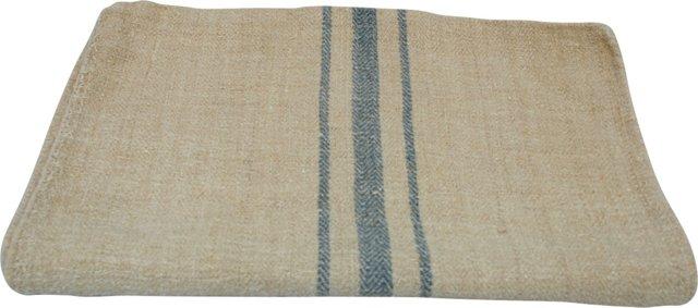 Blue-Stripe  Grain Sack