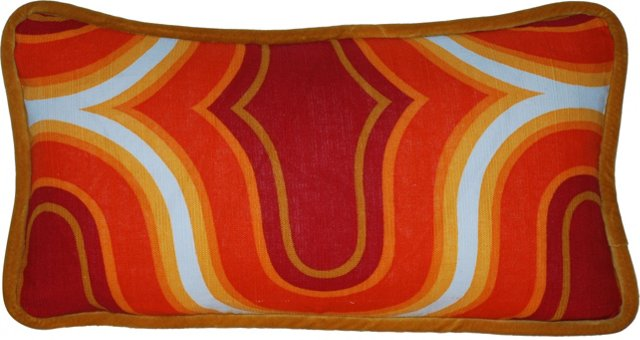 Red & Orange Scandinavian Pillow