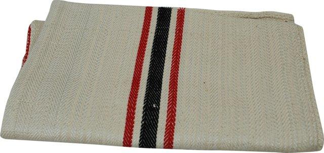 Grain Sack w/ Red & Black Stripes