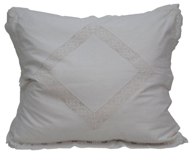 Pillow w/ Antique Italian    Sham