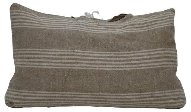 Linen   Pillow w/ Stripes
