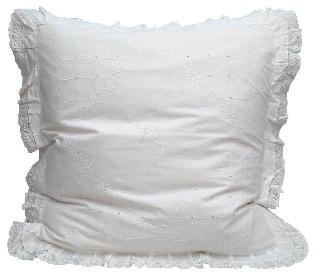 Pillow w/ Monogrammed Sham