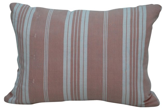 Pink French Ticking Pillow