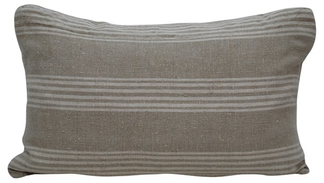 Linen Pillow w/ Stripes