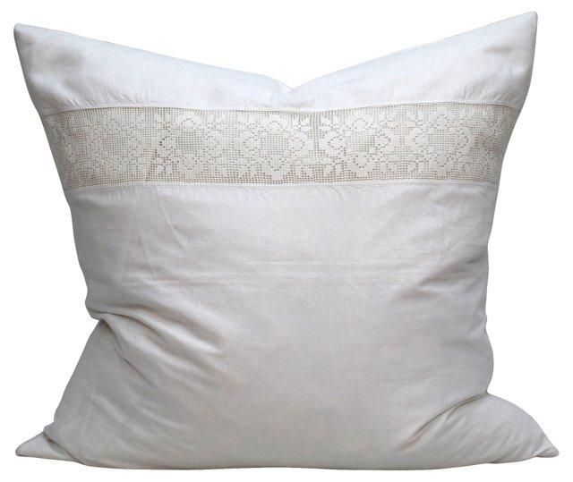 Pillow w/ Crocheted Italian Sham