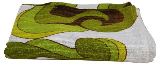 Green  Scandinavian Fabric, 2.7 Yds