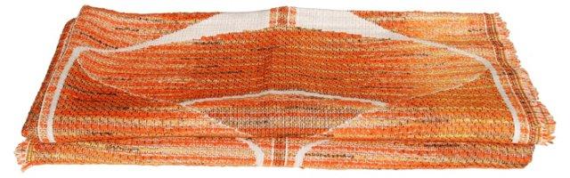 Orange Scandinavian Fabric, 2 Pcs