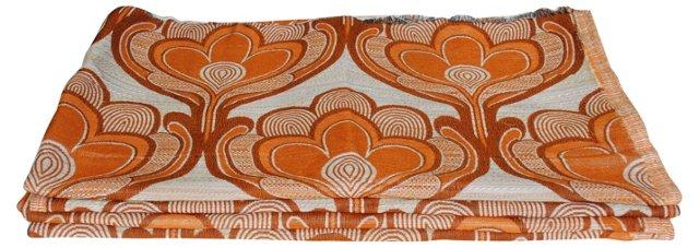 Orange Buds Scandinavian Fabric, 4 Pcs