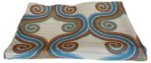 Scandinavian  Swirls Fabric, 1.97 Yds