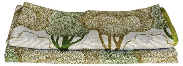 Treetop Scandinavian Fabric, 2 Pcs