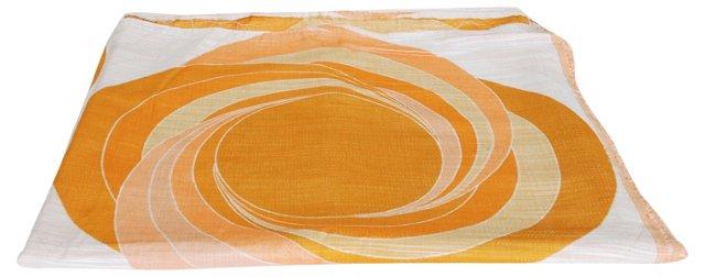 Orange & Peach Scandinavian Fabric Panel