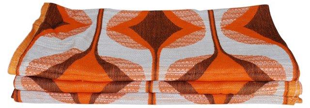 Brown Diamond Scandinavian Fabric, S/3