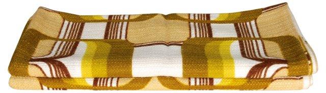 Scandinavian Olive Green Fabric, 2 Pcs