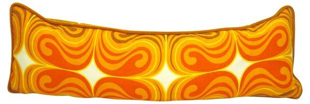 Orange Swirl  Body Pillow