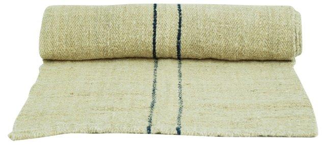 Double Striped Grain Sack Table Runner