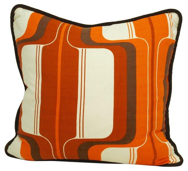 Scandinavian Rust  & Orange Pillow