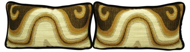 Gold & Black Boudoir Pillows, Pair
