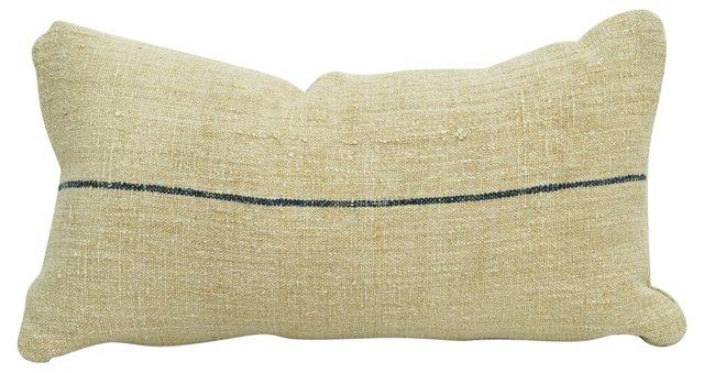 Thin-Striped Grain Sack Boudoir Pillow