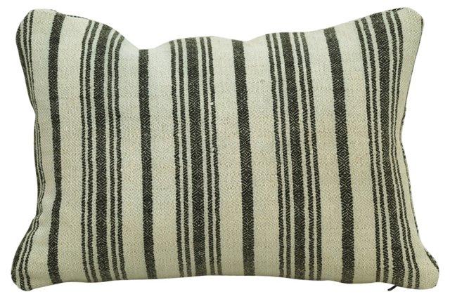 Hungarian Ticking Boudoir Pillow