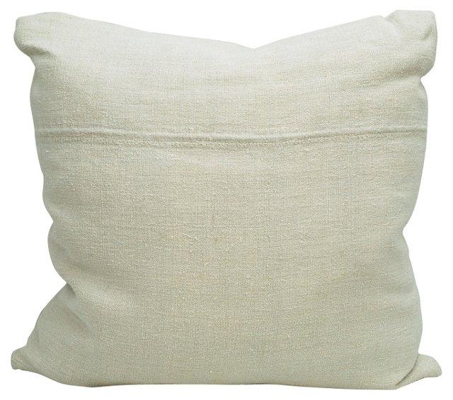 Sqaure Grain          Sack Pillow