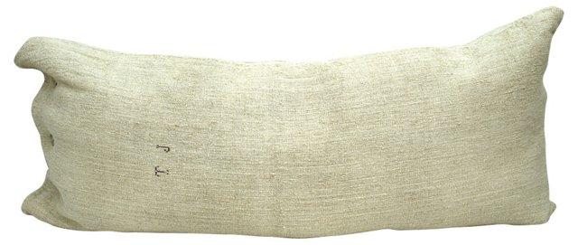Monogrammed Linen Body Pillow