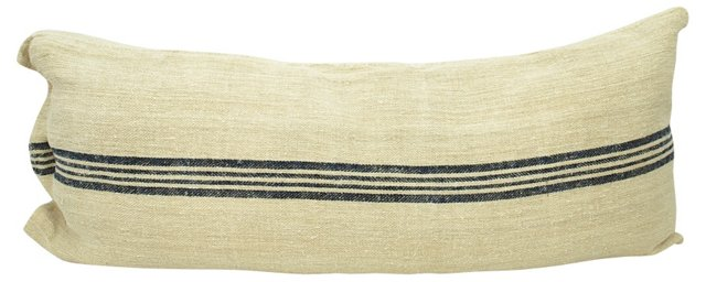 Navy-Striped Grain Sack    Body   Pillow