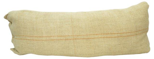 Thin Orange-Striped Linen   Body Pillow
