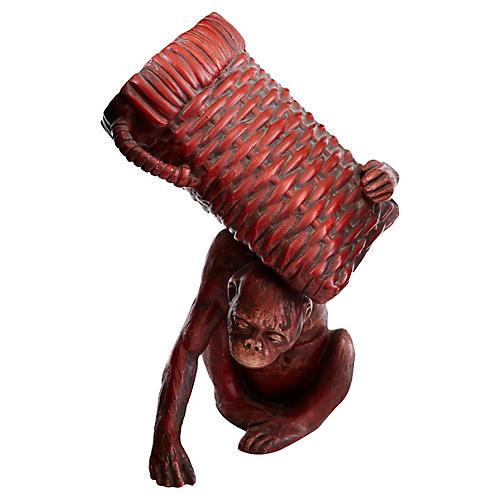 German Cinnabar Monkey w/ Basket