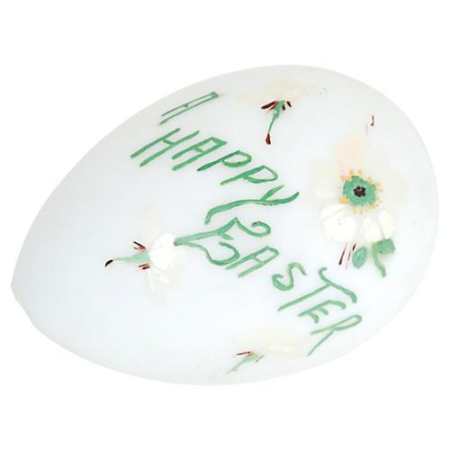 Large Antique Milk Glass Easter Egg