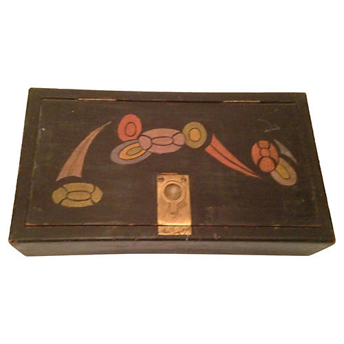 French Art Deco Hand-Painted Box