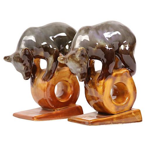 Pottery Circus Bears, Pair