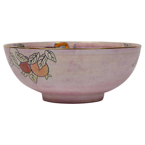 English Lusterware Chinoiserie Bowl