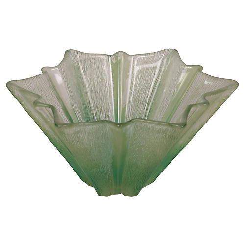 Etched Glass Starburst Bowl