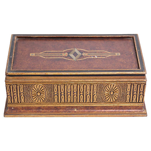 Ornate Gold Italian Jewelry Box
