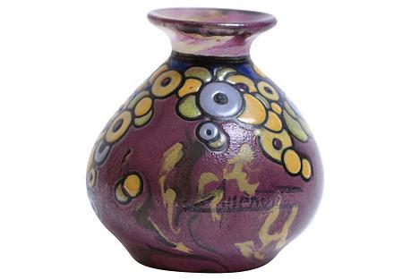 Acid Etched French Art Deco Vase