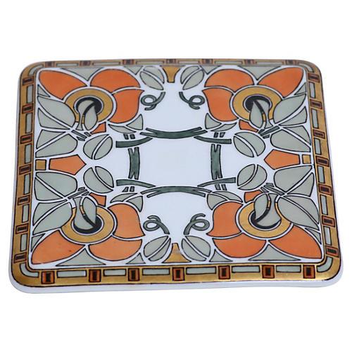 Art Nouveau German Porcelain Trivet