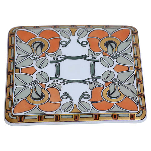 Art Nouveau German Porcelain Trivet
