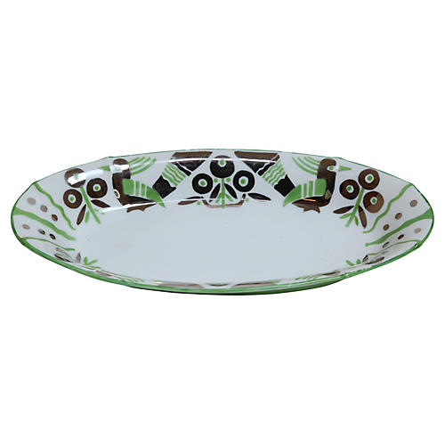 German Art Deco Oblong Porcelain Bowl