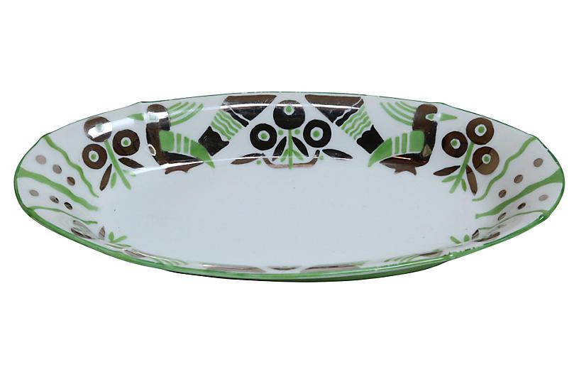 German Art Deco Oblong Porcelain Bowl