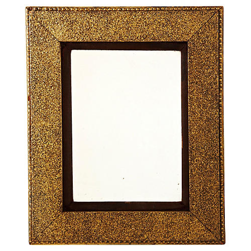 Golden Mirror w/ Brown Velvet Matting