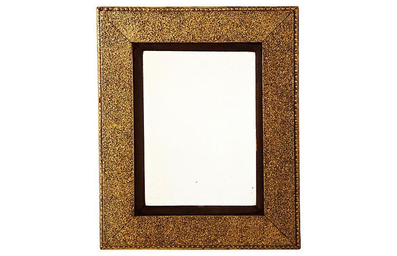 Golden Mirror w/ Brown Velvet Matting