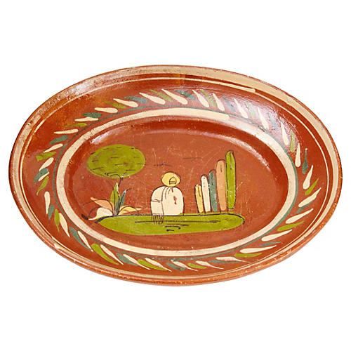 1920s Mexican Art Pottery Platter