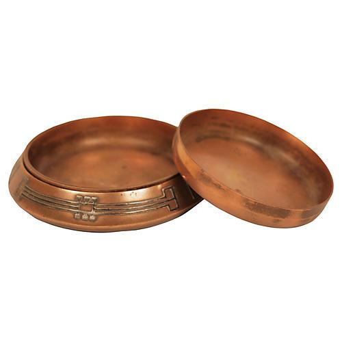 Sterling Silver & Bronze Trays, 4 Pcs