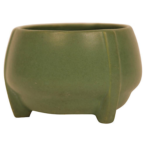 Matte Green Art Pottery Buttress Vase