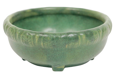 Matte Green American Art Pottery Bowl