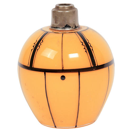 Tangerine Czech Art Deco Perfume Bottle