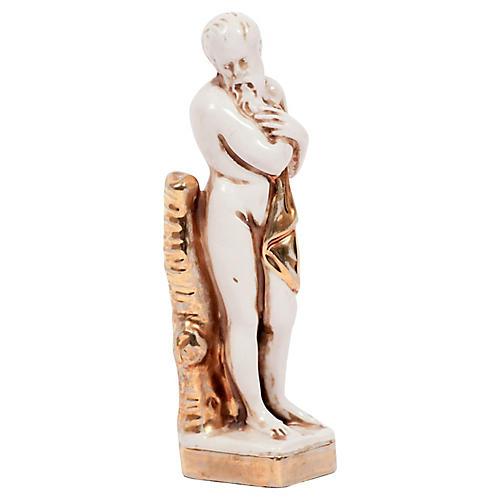 Italian Neoclassical Male Pottery Figure