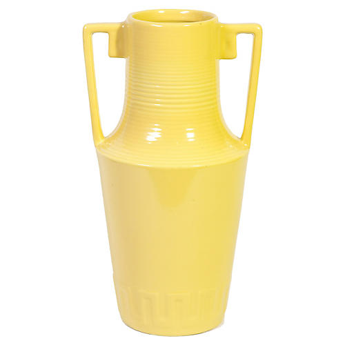 American Art Pottery Yellow Floor Vase